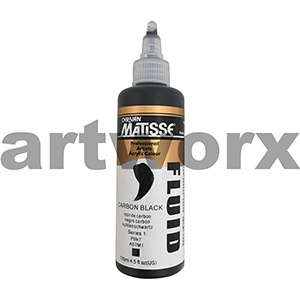 Carbon Black s1 135ml Matisse Fluid Acrylic Paint