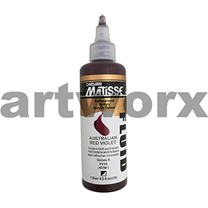 Australian Red Violet s6 135ml Matisse Fluid Acrylic Paint