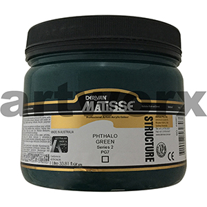 Phthalo Green s2 1 litre Matisse Structure Acrylic Paint