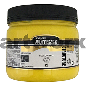 Yellow Mid Azo s2 1 litre Matisse Structure Acrylic Paint