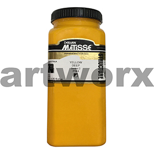 Yellow Deep s2 500ml Matisse Structure Acrylic Paint