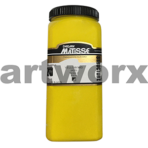 Yellow Mid Azo s2 500ml Matisse Structure Acrylic Paint