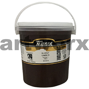 Burnt Umber s1 1 litre Matisse Structure Acrylic Paint