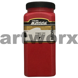 Primary Red s4 500ml Matisse Structure Acrylic Paint