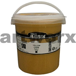 Yellow Oxide s1 1 litre Matisse Structure Acrylic Paint