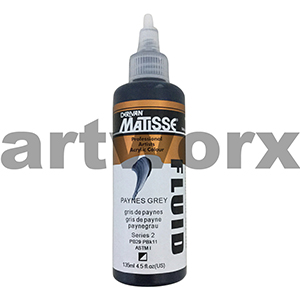 Paynes Grey s2 135ml Matisse Fluid Acrylic Paint