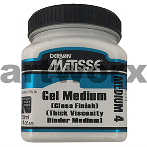 Gel Medium Gloss Finish 250ml Matisse Medium