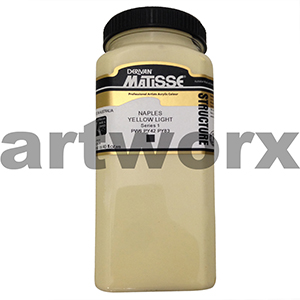 Naples Yellow Light  s1 500ml Matisse Structure Acrylic Paint