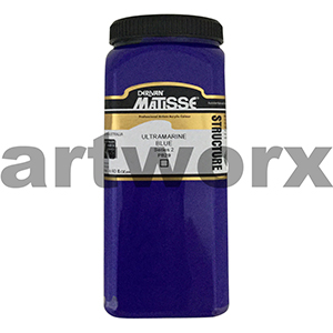 Ultramarine Blue s2 500ml Matisse Structure Acrylic Paint