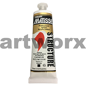 Cadmium Red Medium s4 Derivan Matisse Structure 75ml