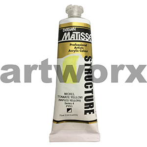 Nickel Titanate Yellow (Naples Yellow) s4 Derivan Matisse Structure 75ml