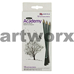 Derwent Academy Graphite Sketching Pencil Set of 12 6B-5H