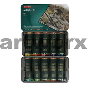 72pc Tin Artists Derwent Pencils