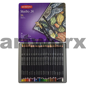 24pc Tin Studio Derwent Pencils