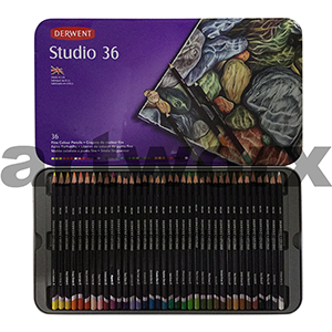 36pc Tin Studio Derwent Pencils