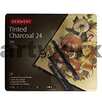 Derwent Tinted Charcoal Pencils Tin 24pcs