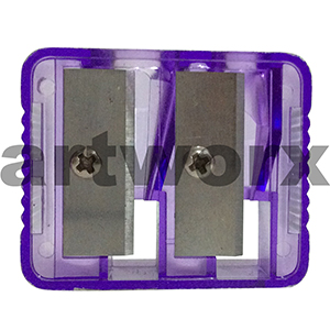 Purple Plastic Double Hole Sharpener
