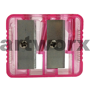 Red Plastic Double Hole Sharpener