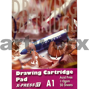 110gsm A1 50 Sheets X-Press It Cartridge Drawing Pad