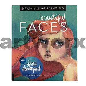 Drawing & Painting Beautiful Faces Book by Jane Davenport
