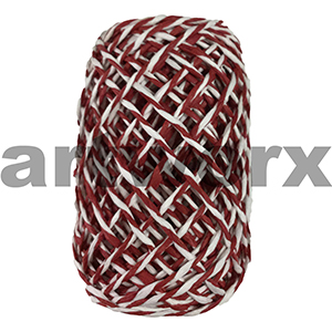Red and White Paper Twine 15m