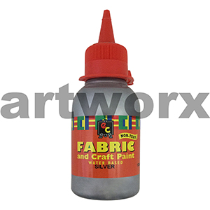 Silver Fabric Paint 125ml EC
