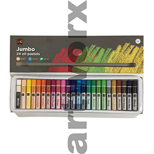 24pc Jumbo Oil Pastels EC