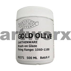 Gold Olive 500ml Earthenware Glaze