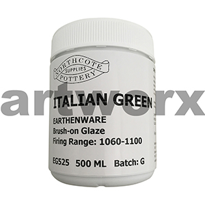 Italian Green 500ml Earthenware Glaze