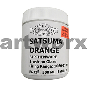 Satsuma Orange 500ml Earthenware Glaze
