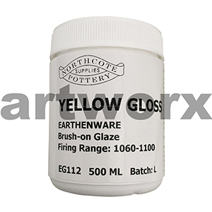 Yellow Gloss 500ml Earthenware Glaze