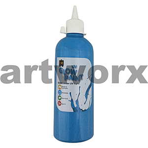 Blue Educational Colours Glow in the Dark UV Paint 500ml
