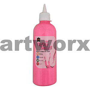 Pink Educational Colours Glow in the Dark UV Paint 500ml