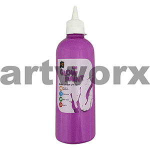 Violet Educational Colours Glow in the Dark UV Paint 500ml