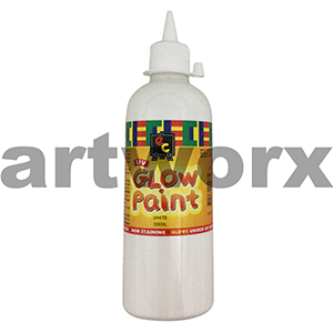 White Educational Colours Glow in the Dark UV Paint 500ml