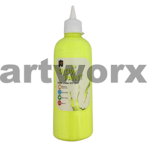 Yellow Educational Colours Glow in the Dark UV Paint 500ml