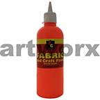 Fluorescent Orange Fabric Paint 500ml Educational Colours