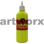 Fluorescent Yellow Fabric Paint 500ml Educational Colours