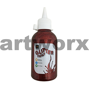 Red 250ml Glitter Paint Educational Colours