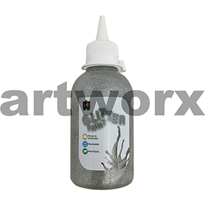Silver 250ml Glitter Paint Educational Colours