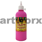 Magenta Educational Colours Glow in the Dark UV Paint 500ml