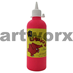 Fluorescent Pink Liquicryl Junior Acrylic 500ml Educational Colours