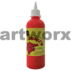 Fluorescent Scarlet Liquicryl Junior Acrylic 500ml Educational Colours