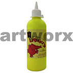 Fluorescent Yellow Liquicryl Junior Acrylic 500ml Educational Colours