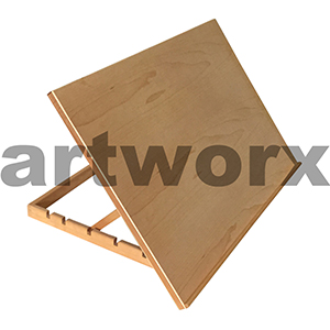 750 x 500 x 480mm Elm Drawing Board