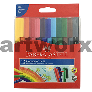12pc Connector Pens Faber Castell