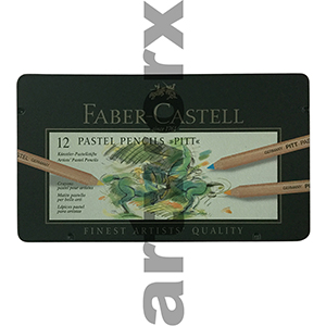 12pc Tin Pitt Faber-Castell Pastel Pencils