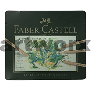 24pc Tin Pitt Faber-Castell Pastel Pencils
