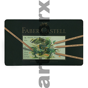 36pc Tin Pitt Faber-Castell Pastel Pencils