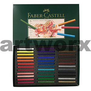 36pc Faber-Castell Polychromos Hard Pastels